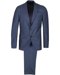 BOSS - Johnston Blue Wool Suit - Lyst