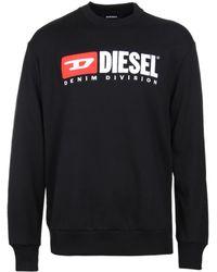 DIESEL - S-crew-division Felpa Black Sweatshirt - Lyst