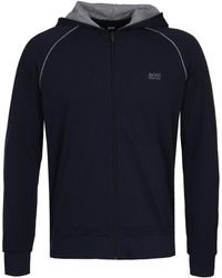 BOSS by Hugo Boss - Navy Mix&match H Hoodie - Lyst