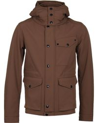 C P Company - Mille Miglia Ermine Brown Soft Shell Goggle Jacket - Lyst