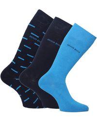 BOSS by Hugo Boss - Three-pack Blue, Navy & Patterned Socks Gift Set - Lyst