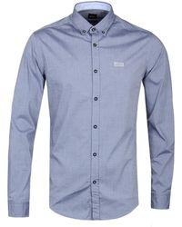 BOSS Green - Biado Steel Blue Shirt - Lyst