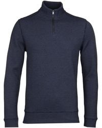 BOSS - Casual Sidney12 Dark Blue Quarter Zip Sweat - Lyst