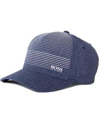 67593c382 BOSS by Hugo Boss - Boss Gradient Chambray Blue Cap - Lyst