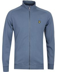Lyle & Scott - Mist Blue Tricot Sleeve Funnel Neck Sweat - Lyst