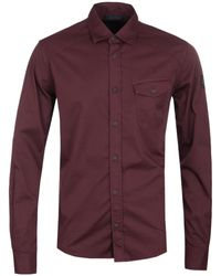 Belstaff - Steadway Dark Amarone Shirt - Lyst