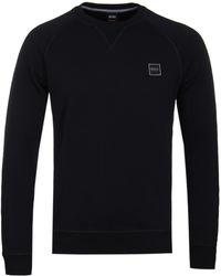 BOSS Orange - Wyan Black Sweatshirt - Lyst