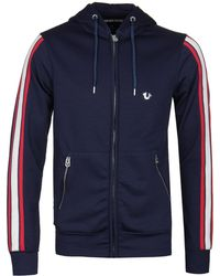True Religion - Active Navy Hooded Zip Jacket - Lyst