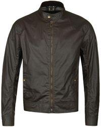 Belstaff - Faded Olive Kelland Cafe Racer Waxed Biker Jacket - Lyst