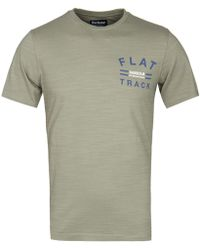 Barbour - Sunbleached Olive Hill Tee - Lyst