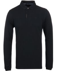 Barbour - Black Sports Long Sleeve Polo Shirt - Lyst
