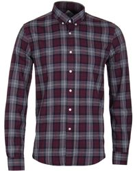 Barbour - Culver Merlot Check Shirt - Lyst