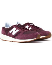 New Balance - 420 Burgundy Suede Trainers - Lyst