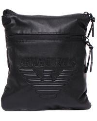 Armani Jeans - Black Pleather Airline Bag - Lyst