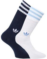 adidas Originals - Two Pack Solid Crew Socks - Lyst