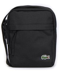 Lacoste - Black Canvas Vertical Camera Bag - Lyst