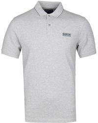 Barbour - Light Grey Marl Road Polo Shirt - Lyst