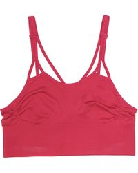 598413513233a Lyst - adidas By Stella McCartney Rose Pull On Bra in Pink