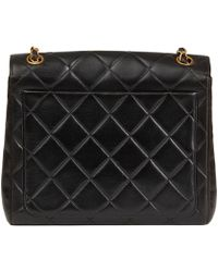 0a6d759fb64d Chanel - Black Quilted Lambskin Vintage Classic Single Flap Bag - Lyst