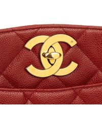 cdae9711011e Chanel - Red Quilted Caviar Leather Vintage Xl Timeless Shoulder Bag - Lyst