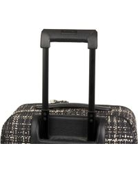 Chanel - Black Tweed & Caviar Leather Jacket Trolley Rolling Suitcase - Lyst