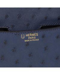 Hermès - Bleu De Malte Ostrich Leather Special Order Constance 24 - Lyst