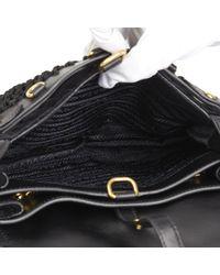 83a915f2c3ec Prada - Black Quilted Velvet & Calfskin Leather Corsaire Bag - Lyst