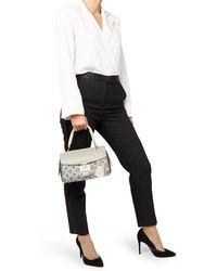 Louis Vuitton - Grey Alligator Leather, Ostrich Leather & Mink, Jacquard Monogram Comedie Carrousel - Lyst