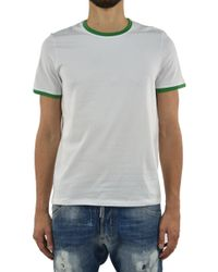 Bikkembergs - T-shirt Sea White And Green - Lyst