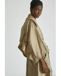 Yigal Azrouël - Crinkle Parachute Trench Coat - Lyst