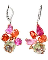 Sharon Khazzam | Pink And Pearl Penny Drop Earrings | Lyst