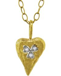 Cathy Waterman - Floating Clover Heart Charm - Lyst