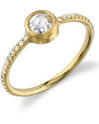 Irene Neuwirth - Pave Diamond Woven Ring - Lyst