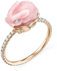 Irene Neuwirth - Pink Opal Bunny Diamond Ring - Lyst