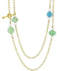 Cathy Waterman - Turquoise Chrysoprase Necklace - Lyst