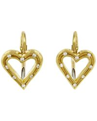 Cathy Waterman - Fairy Lights Heart Earrings - Lyst
