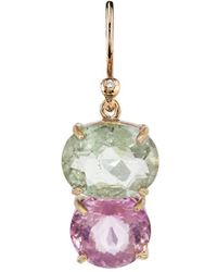 Irene Neuwirth - One-of-a-kind Pink And Green Tourmaline Single Earring - Lyst