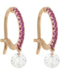 Raphaele Canot - Pink Sapphire Set Free Hoop Earrings - Lyst