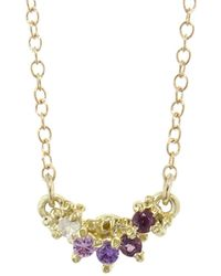 Ruta Reifen - Pink, Purple And White Sapphire Curve Necklace - Lyst