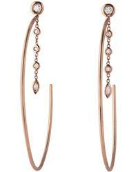 Jacquie Aiche - Large Diamond Drip Hoop Earrings - Lyst