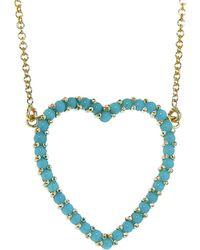 Jennifer Meyer - Turquoise Open Heart Necklace - Lyst