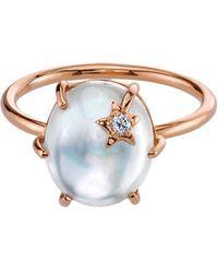 Andrea Fohrman - White Mother Of Pearl Mini Galaxy Star Ring - Lyst