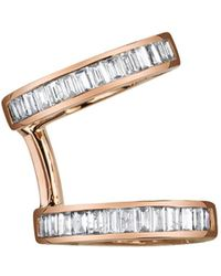 Borgioni - Multi-diamond Baguette Single Earcuff Earring - Lyst