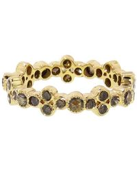 Sethi Couture - Brown Diamond Bezel Cluster Band Ring - Lyst