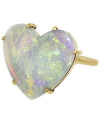 Irene Neuwirth - Carved Opal Heart Ring - Lyst