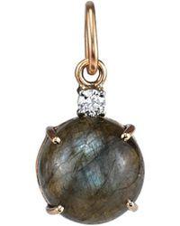 Irene Neuwirth - Labradorite Cabochon Full Cut Diamond Charm - Lyst