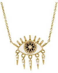 Sydney Evan - Kaleidoscope Evil Eye Fringe Necklace - Lyst