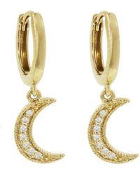 Andrea Fohrman - Diamond Moon Drop Earrings - Lyst