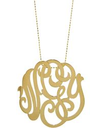 Ginette NY - Large Lace Monogram Necklace - Lyst