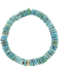 Sydney Evan - Diamond Stone Pyramid On Arizona Turquoise Beaded Bracelet - Lyst